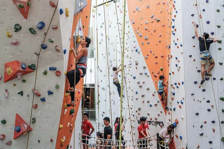 What is indoor climbing